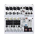 ammoon 6-Kanal-Soundkarte Digitaler Audio-Mixer Mischpult Eingebauter 48V Phantomspeisung Powered by...