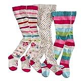 wellyou, Kinder-Strumpfhosen für Mädchen 3er Set, Baby-Strumpfhosen ecru, hoher Baumwoll-Anteil,...