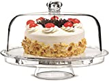 Rammento Multifunctional 5 in 1 Cake Stand and Dome. Wedding Cake Dome, Punch Bowl, Salad Bowl, Chip...