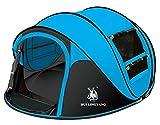 Ghlee 2 3 4 Person Sekunden Pop Up Schnelle Eröffnung Camping Wandern Große Instant Zelt für...
