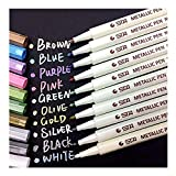Audel Metallic Marker Pens, Satz von 10 Farben für Kartenherstellung DIY Fotoalbum Gebrauch auf...