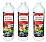 3 x 1 Liter = 3 Liter CleanPrince Teichrein Algenfrei 1000 ml Algenvernichtung Blaualgen Braunalgen...