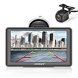 AWESAFE Navigation GPS 7 Zoll Touchscreen Auto Navigationsgerät mit Lebenslang Karten-Updates...