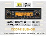 12 Volt Bluetooth PKW Auto Radio RDS & DAB Tuner CD MP3 WMA USB 12V CDD7418UB-OR