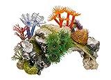 Nobby 28127 Aquarium Dekoration Aqua Ornaments, Koralle mit Pflanzen