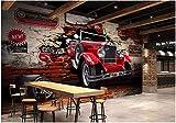 Wxlsl Benutzerdefinierte Wandbild 3D Fototapete Oldtimer Auto Gebrochen Wand Hintergrund Dekor...