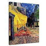 Bilderdepot24 Kunstdruck - Alte Meister - Vincent Van Gogh - Caféterrasse am Abend - 60x80cm...