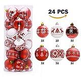 Erfülle durch Amazonvon Deutschland,Weiß und Rot Weihnachtskugeln Set (24 PCS),Lnkey Weihnachten...