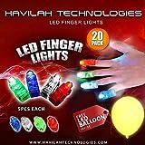 HAVILAH TECHNOLOGIES 20Pcs super helle LED-Finger beleuchtet Finger-Taschenlampe leuchten Spielwaren...