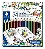 Staedtler Noris colour 185 C24JB Buntstifte, erhöhte Spitzen-Bruchfestigkeit, sechskant, Set mit 24...