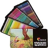 120 Buntstifte mit Metallbox von Zenacolor - 120 einzigartige Farben - Leichter Zugang mit 3...
