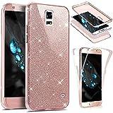 EUWLY Schutzhülle für [Samsung Galaxy S5], 360° Full Body Cover Glänzend Glitzer Strass Handy...