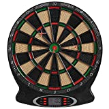 Best Sporting London elektronische Dartscheibe, Dartboard mit 6 Dartpfeilen und Ersatzspitzen,...