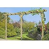 Pergola aus Holz Torbogen Rankhilfe Länge ca. 450 cm mit Pfosten 9x9cm von Gartenpirat®
