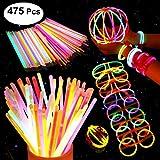 200 Knicklichter Party Set, Premium Armbänder, Ketten, Set für Brillen, Dreifach Armbänder, ein...