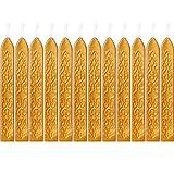 12 Stücke Siegellack Sticks mit Dochte Antikes Feuer Manuskript Siegelwachs für Wachs...