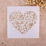 Zhuotop Kinder Zeichenschablonen Set Airbrush Schablonen zum Mode Druck Zeichnen Airbrush Malen...