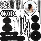 Newland 64 Stück Haare Frisuren Set,DIY Frisurenhilfe Set, Haare Styling Set, Haar Clip-Pads, Haar...