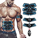 KARID Muskelstimulation Bauchmuskeltrainer,EMS Training Muskelstimulator Elektroden Pads für...