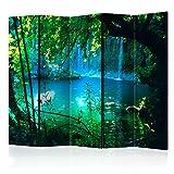 murando - Raumteiler & Pinnwand - Foto Paravent Wasserfall Natur Wasser 225x172 cm - beidseitig auf...