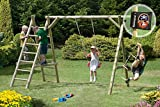 Gartenpirat Schaukel Holz Classic 3.1 Schaukelgestell mit Leiter und Seil