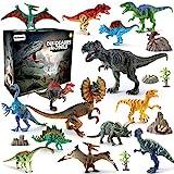 BeebeeRun Dinosaurier Spielzeug Set 21 PCS,Realistische Dinosaurier Figur Modell für Kinder Jungen...