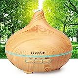 Aroma Diffuser 300ml InnooCare Luftbefeuchter Öl Ultraschall Düfte Humidifier Holzmaserung LED mit...