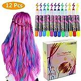 Philonext Haarkreide 12 Farben Colorful Professional Waxy Glitter Farbige Natürliche Haare Kreide...