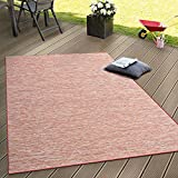 Paco Home In- & Outdoor Flachgewebe Teppich Terrassen Teppiche Farbverlauf In Terracotta,...