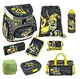 Familando Transformers Bumblebee Schulranzen-Set 9 tlg. mit Federmappe, Dose, Flasche, Sporttasche...
