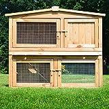 ZooPrimus Kleintier-Stall Nr 02 Kaninchen-Käfig 'OBELIX' Meerschweinchen-Haus für Außenbereich...
