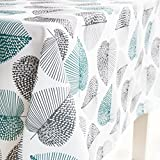 GWELL Tischdecke Eckig Abwaschbar Oxford Tischtuch Pflegeleicht Schmutzabweisend Farbe & Größe...