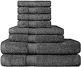 Premium Bad Handtuch-Set 8-teilig; 2 Badetücher, 2 Händehandtuch und 4 Waschlappen - 100%...
