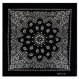 Bandana mit exclusivem Paisley Muster in schwarz
