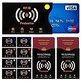 TRAVANDO ® RFID & NFC Schutzhülle (10+2 Stück) für Bankkarte, Ausweise, Kreditkarte, EC-Karte,...