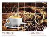 Graz Design 761664_20x20_80 Fliesenaufkleber Tasse/Kaffee-Bohnen für Kacheln | Küchen-Rückwände...