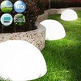 3x LED Solarleuchte Gartenbeleuchtung Lampe Leuchte Solar Akku betrieben Outdoor | wiederaufladbarer...