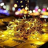 LED Lichterketten Innen mit EU Stecker, 12m, 100er, Warmweiß, Weihnachtsbaum Deko, für Innen und...