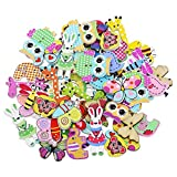 Bluelans® Knöpfe für Kinder Kinderknöpfe Holzknöpfe Knopf Scrapbooking Mischung aus 50...