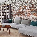 murando - Vlies Fototapete 500x280 cm - Vlies Tapete - Moderne Wanddeko - Design Tapete - Ziegel...