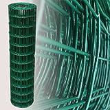 25 Meter Maschendrahtzaun Gitterzaun Drahtzaun grün Höhe 120 cm Maschenweite 7,5 x 10 cm...