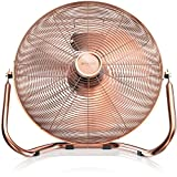 Brandson - Retro Windmaschine/Ventilator im Kupfer-Design (Retro-Stil)   Standventilator 50cm  ...