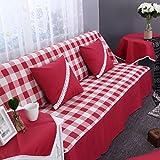 DW&HX Karierte sofabezug,1,2,3,4 sitze Perfekt für kinder und haustiere Anti-rutsch Einfachen und...