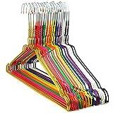 Hangerworld 50 Stück verzinkte Metall Kleiderbügel mit bunter Beschichtung - Für den...
