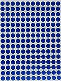 Bunte Sticker Blau 8 mm runde Punkt Aufkleber–inverschiedenen Farben Größe 0,8...