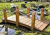 Teich-Brücke aus Holz für Gartenteich