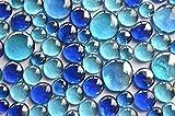 350g Glasnuggets Blaumix in 3 versch. Größen 12-15mm, 17-21mm und 26-33 mm, ca. 81 Stück...