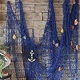 Milopon Fischernetz Deko Maritime Fischerei dekorative Netz mit Muscheln zum Aufhängen Deko...