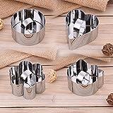 4Pcs Dessert- Speiseringset Ring, Edelstahl Kuchen Ring Set Mousse Form 8 * 4CM