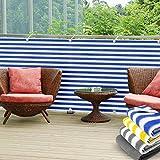 Balkon Sichtschutz UV-Schutz | 90x500cm | wetterbeständiges und pflegeleichtes HDPE-Spezialgewebe |...